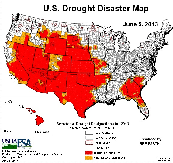 2013 started off with a dry winter in the south western region of the us receiving only 25 of their average rainfall has put states from california to
